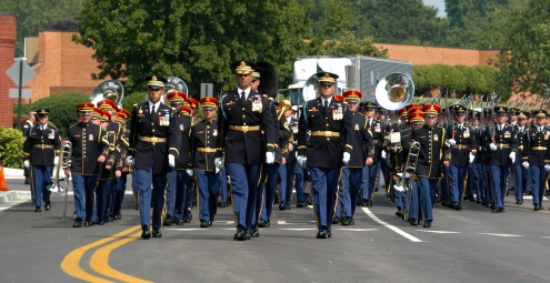 A full honors funeral at Arlington National Cemetery.