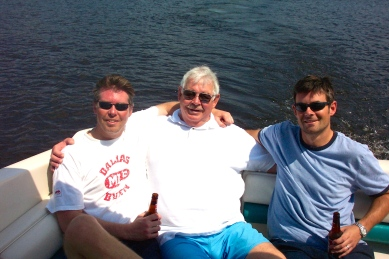 Dad with two of my three brothers.